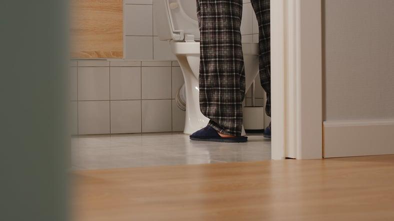 Man with slow urine stream